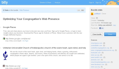 Optimizing Your Congregation's Web Presence Resource Links