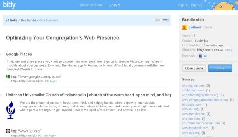 Optimizing Your Congregation's Web Presence Resource Links